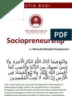 Memulai Menjadi Sociopreneur