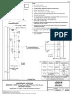 Corbin Russwin ED5200S Series M107 Option Template