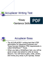 Accuplacer Writing Test (1)