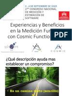 Experiencias y Beneficios en la Medición Funcional con Cosmic Function Points