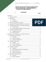 3 Indice O&M Potabilización mantenimiento