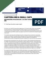 Carteira Mid & Small Caps _ Inside - Tudo sobre investimentos em uma única plataforma