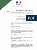 Arrêté n1504 Du 7-04-2020 Accueil Du Public Dans Les Commerces Autorisés à RP