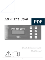 tec 3000 Quick reference guide