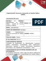 Presentación curso Organizaciones Gerencia e Innovación en Gestión Pública  en formato PDF