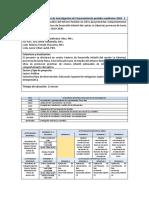 Replanificación de Proyecto de Investigación sin financiamiento período académico 2020