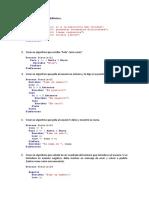 Problemas del curso de  pseint (tecnicas de programacion)