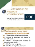 PRODUCTIVIDAD EN OBRAS DE CONSTRUCCION.ppt