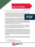 Drummond reiniciará parcialmente sus actividades mineras en Colombia
