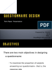 Questionnaire Design by Dikshit Abrol