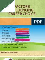 factors influencing career choice