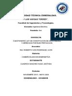 CUESTIONARIO LEY DE CONSTITUCION DE GRAVAMENES Y DERECHOS POR ELECTRIFICACION (Hugo Cuadros)