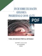 SOBRE EXCAVACIÓN GEOLOGICA 62+274