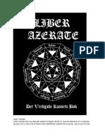 Frater Nemidial - Liber Azerate - El Libro de la Ira del Caos (Español Traducción Automática)