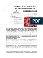 SARS Coronavirus 2 de la Covid 19