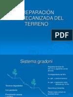 f Preparación semimecanizada y mecanizada del terreno[82]