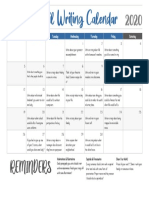 distancelearningapril2020writingcalendar