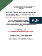 Trabalho - Cliente Tem Sempre Razão (31)997320837