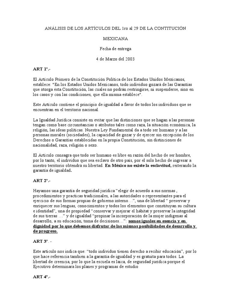 Analysis del articulo 16 de la constitucion mexicana pdf