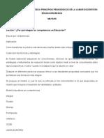 CURSO DOCENCIA ESTRATÉGICA PRINCIPIOS PEDAGÓGICOS DE LA LABOR DOCENTE EN EDUCACIÓN BÁSICA