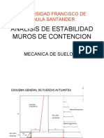 ANALISIS DE ESTABILIDAD MUROS DE CONTENCION