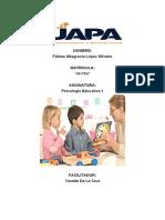 TAREA 7 PSICOLOGIA EDUCATIVA