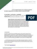 Los elementos clave en la implementación de un sistema de gestión de salud y seguridad en el trabajo usando la norma ISO 45001