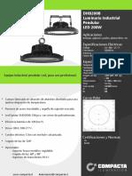 DHB200B_LUMINARIA PENDULAR LED 200W 5000K 220V