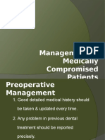 dental treatment of medical compromised patients