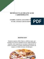 BIOMOLECULAS ORGANICAS DE CARBOHIDRATOS