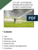 Automatic Water Sprinkler