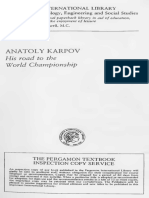 Anatoly Karpov His Road to the World Championship - By Mikhail Botvinnik