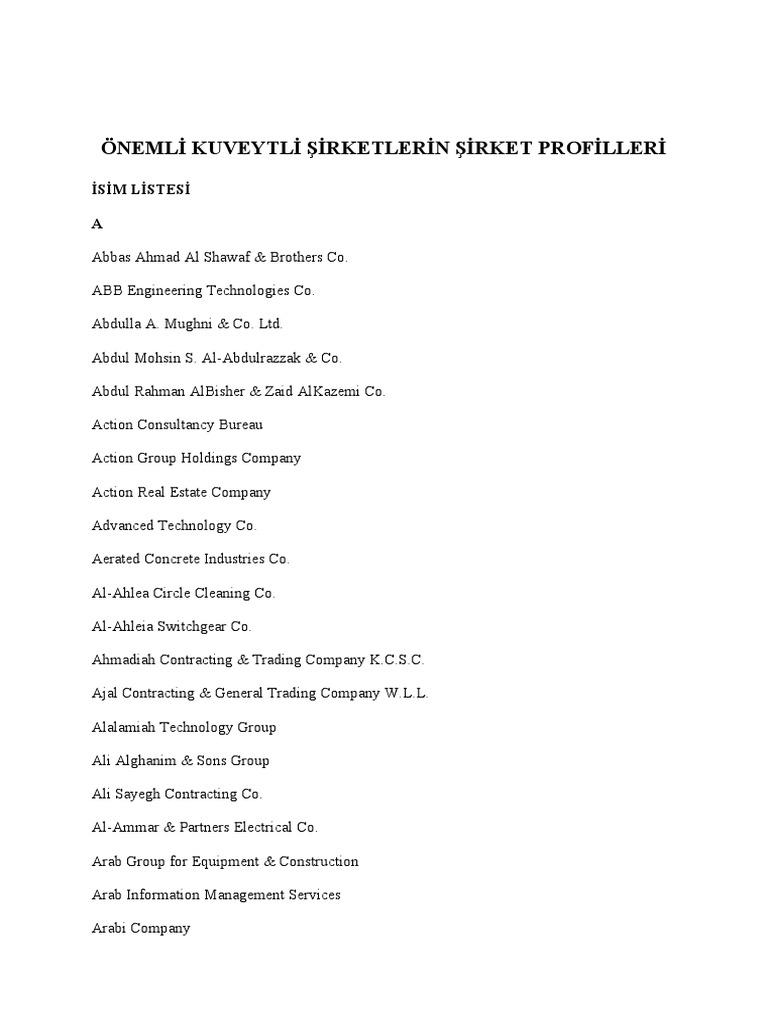 Kuwait Companies List | Switch | Relay