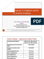 Emerging Issues in Irrigation Sector of Andhra Pradesh