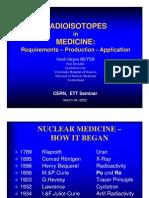 ETT Seminar - Isotopes in Medicine
