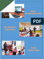 Plan de Recuperacion Del Servicio Educativo 2020 Ccesa007