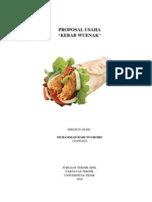 Contoh Proposal Usaha Kebab Gambaran