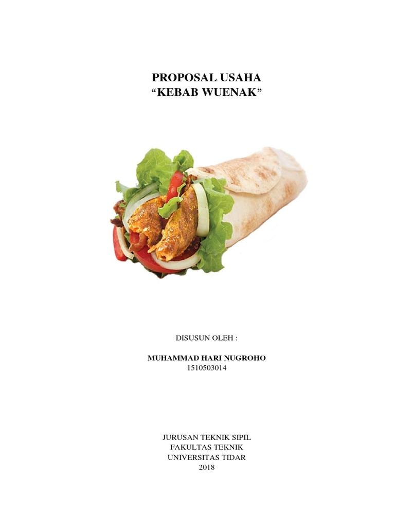 Proposal Usaha Kebab Wuenak Muhammad Hari Nugroho