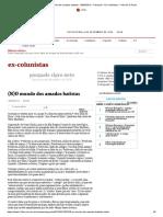 (N)O mundo dos amados batistas - 30_05_2013 - Pasquale - Ex-Colunistas - Folha de S.Paulo