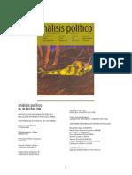 Analisis Politico(Revista)
