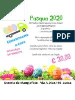 MenùOsteriadalMangiafoco Pasqua