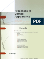 Processes to compel appearance