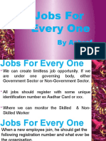 Jobs for Every One