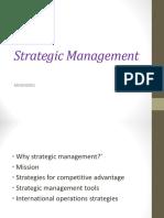 2.3. Strategic Management