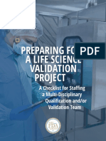 The FDA Group - Preparing for a Life Science Validation Project