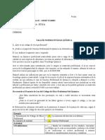 Taller Normatividad Química Ética - 2019marzo