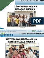 Motivação e Liderança na Administração Pública