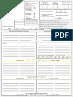 Encumbrance Sheet, simple