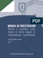 040. MasterTESIS - Manual de investigación, teoría y practica para hacer la tesis según la metodología cuantitativa - Cecilia Salgado Levano 2018.pdf