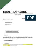DROIT BANCAIRE Balboul